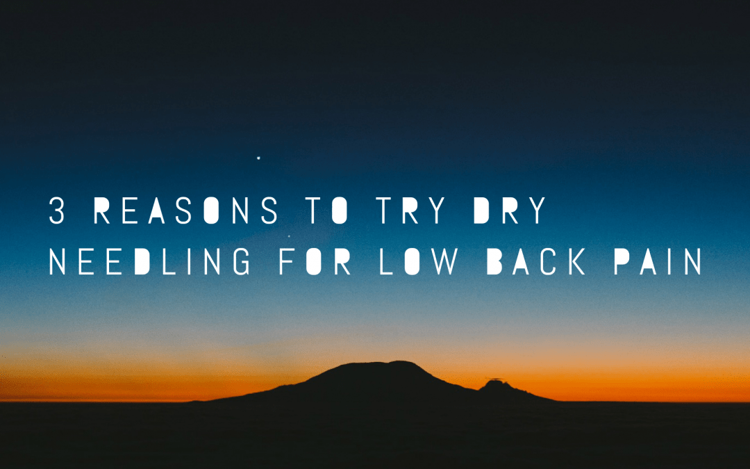 3 Reasons to Try Dry Needling for Low Back Pain