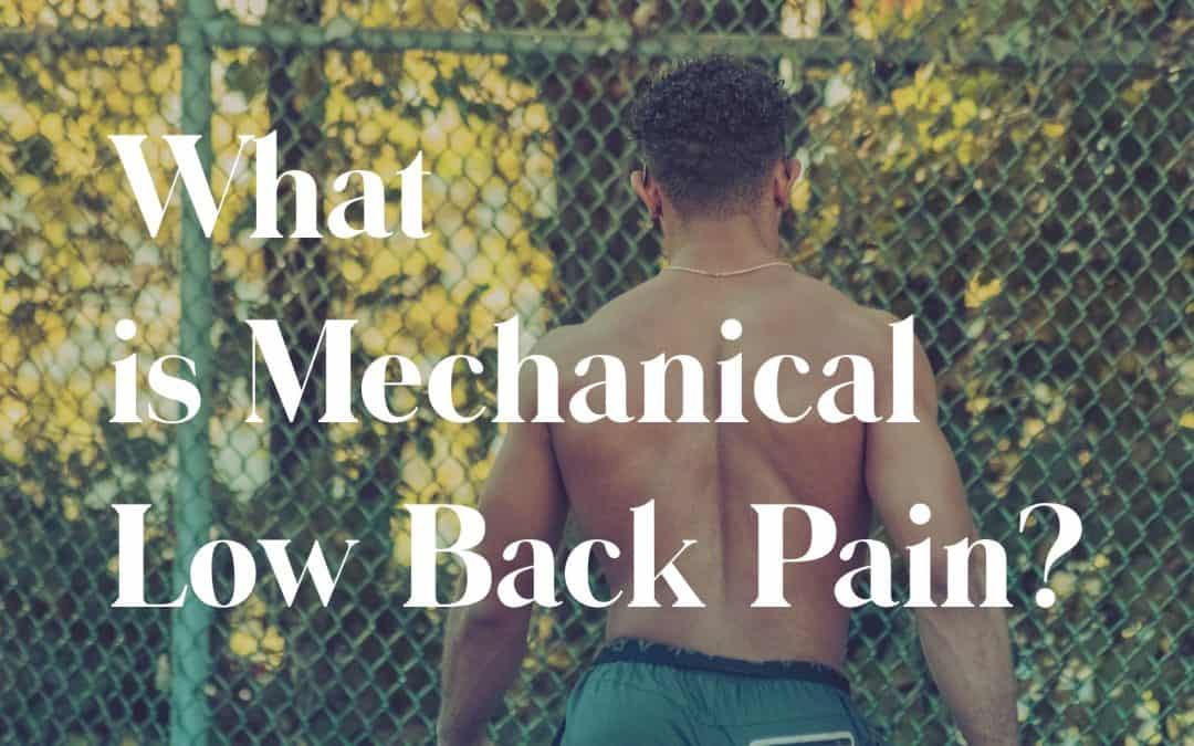 What is Mechanical Low Back Pain?